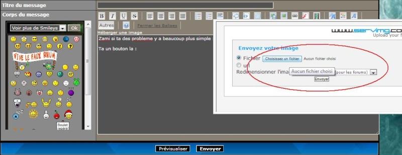Comment mettre un screen à partir d'un hébergeur d'images sur internet. Screnn11