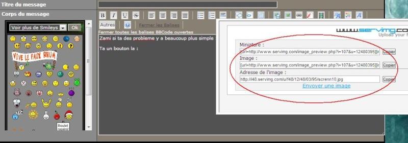 Comment mettre un screen à partir d'un hébergeur d'images sur internet. Screnn12