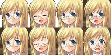 Facesets avec émotions style manga Fille110