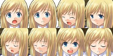Facesets avec émotions style manga Fille410