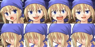 Facesets avec émotions style manga Fille610