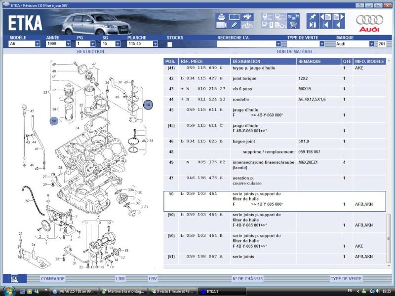 A6 V6 2 5 Tdi An 99 Fuite Huile Carter Superieur R 233 Solu