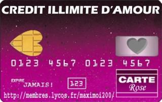 Carte de crédit. Amour310