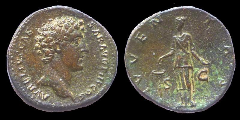 Un petit sesterce de Marc Aurèle César 04217b11