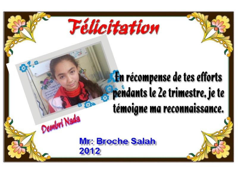 Certificat par Mr: Broche Salah 8 Dembri10