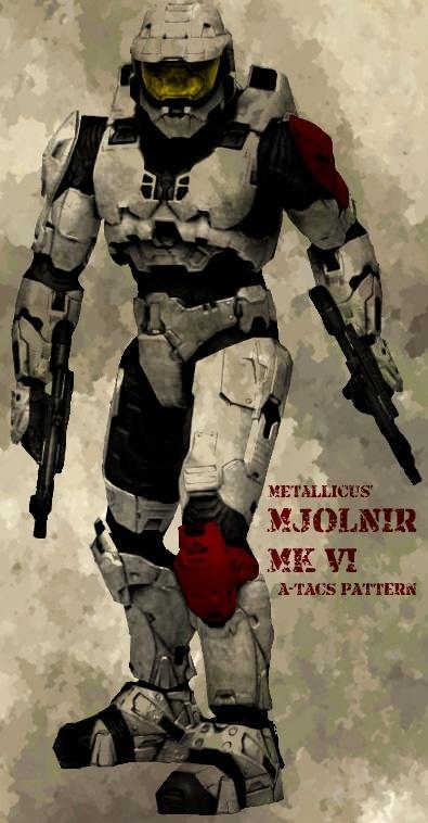 Armure MJOLNIR MkVI SPARTAN ou ODST de HALO Metall12