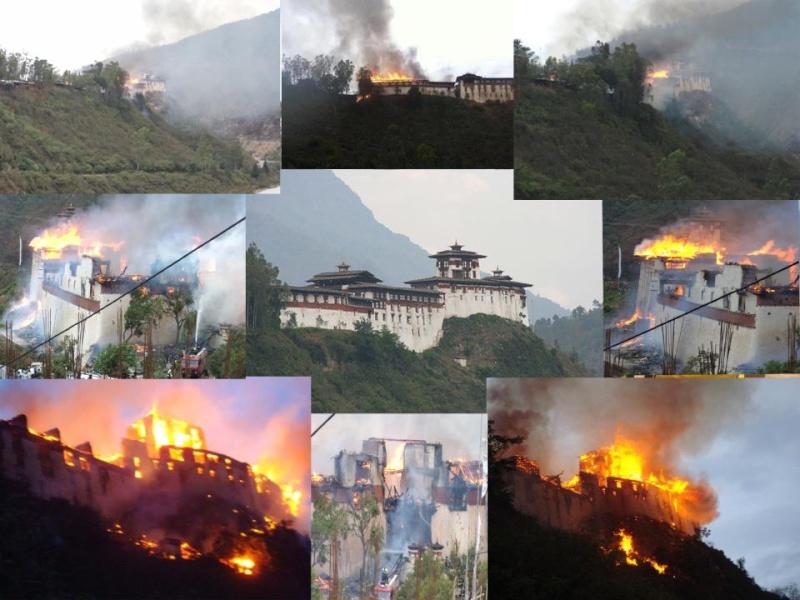Incendie d'un précieux Temple au Bhoutan 25269110