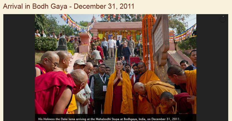 Kalachakra 2012 à Bodhgaya Dalail10
