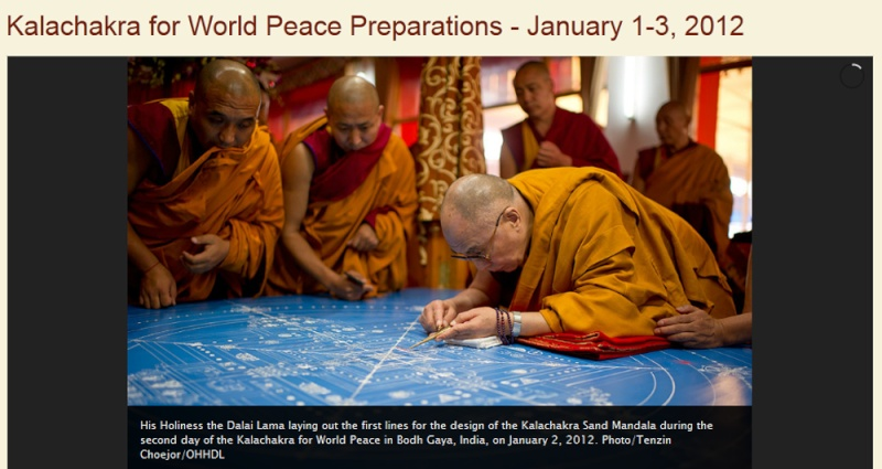 Kalachakra 2012 à Bodhgaya Dalail14