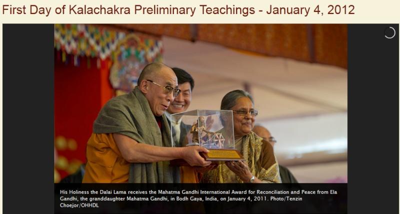 Kalachakra 2012 à Bodhgaya Dalail16