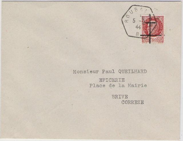 Timbres de la libération de Lille (oblitérations sur lettre). Envelo16