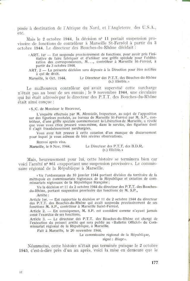 """Timbres surchargés """" RF GOUVERNEMENT PROVISOIRE + Croix de Lorraine """" ? Libera16"""