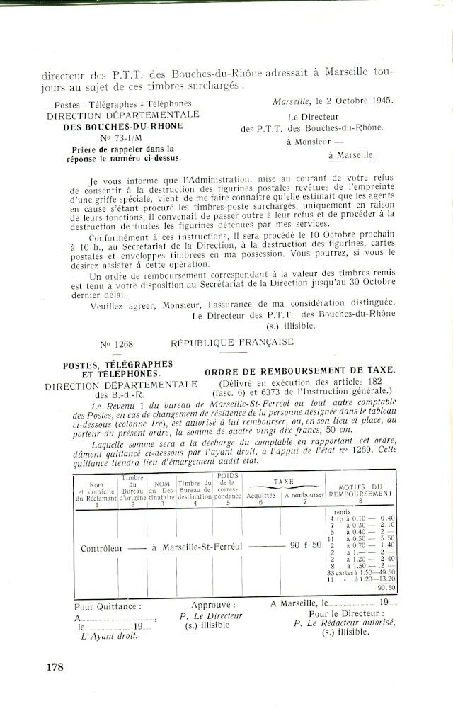 """Timbres surchargés """" RF GOUVERNEMENT PROVISOIRE + Croix de Lorraine """" ? Libera17"""
