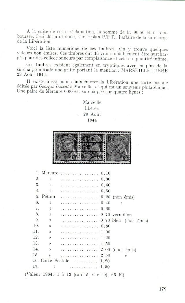 """Timbres surchargés """" RF GOUVERNEMENT PROVISOIRE + Croix de Lorraine """" ? Libera18"""