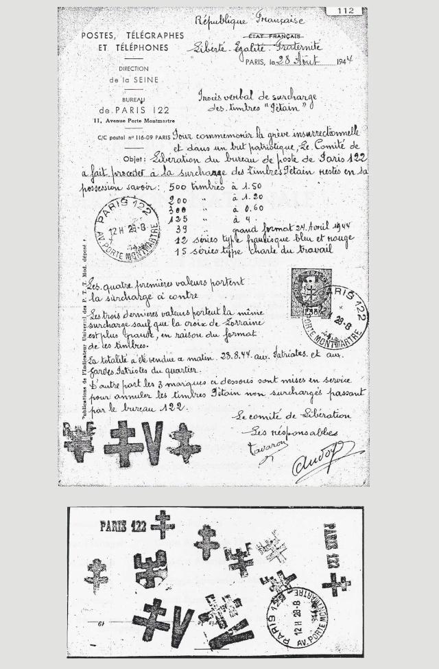 PARIS 122 (Seine) PROCES VERBAL DE L'EMISSION Paris_21