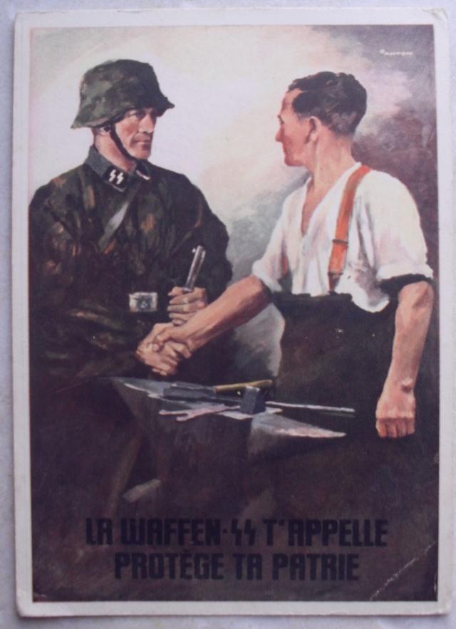 CARTE LA WAFFEN SS T'APPELLE    PROTEGE TA PATRIE Propag10