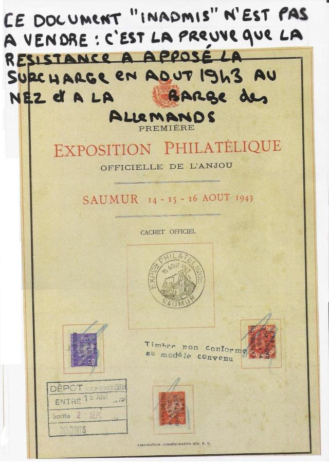 EXPOSITION PHILATELIQUE SAUMUR AOUT 1943 Saumur11