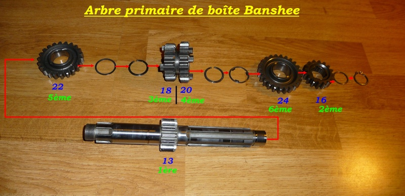 Boite de vitesse Banshee / RDLC + boite longue et courte Primai11