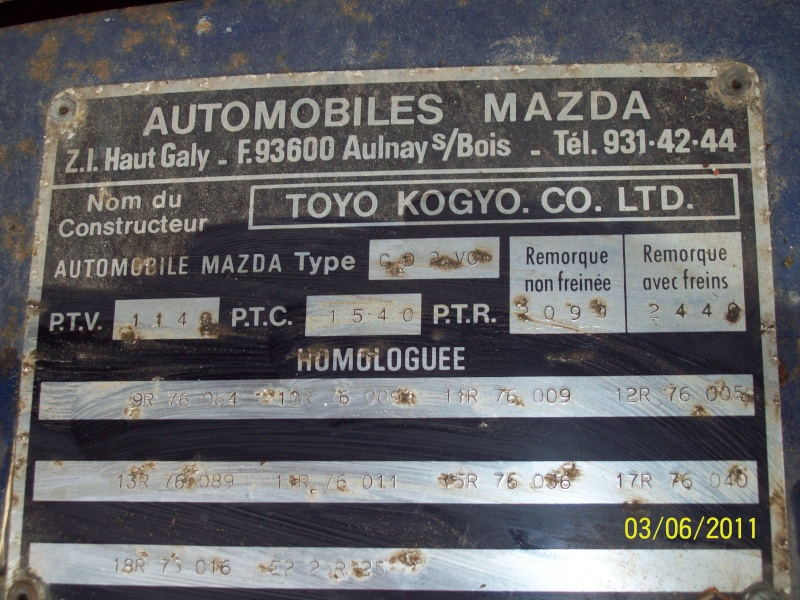 [MAZDA 121] Mazda 121 coupé de 1977 du Sud ! 100_1949
