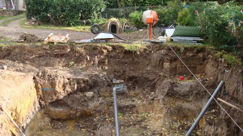 probleme d'eau dans le fond du trou Travau12