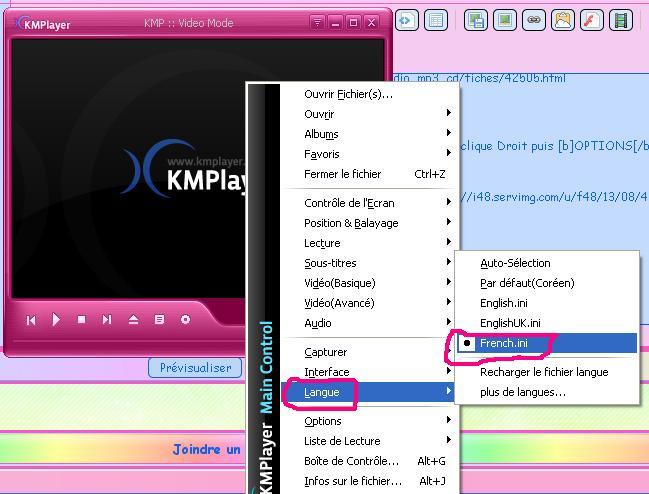 [KM Player] Extraire un passage audio et/ou vidéo 213