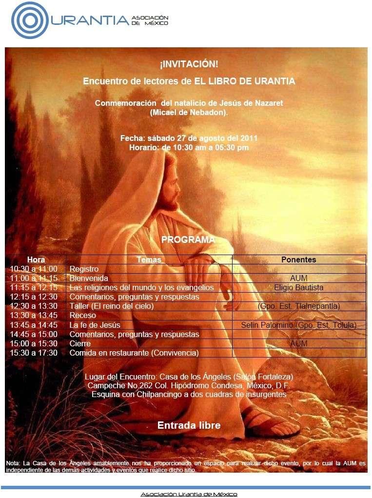 Invitación - Conmemoración del natalicio de Jesús - México DF Encuen10
