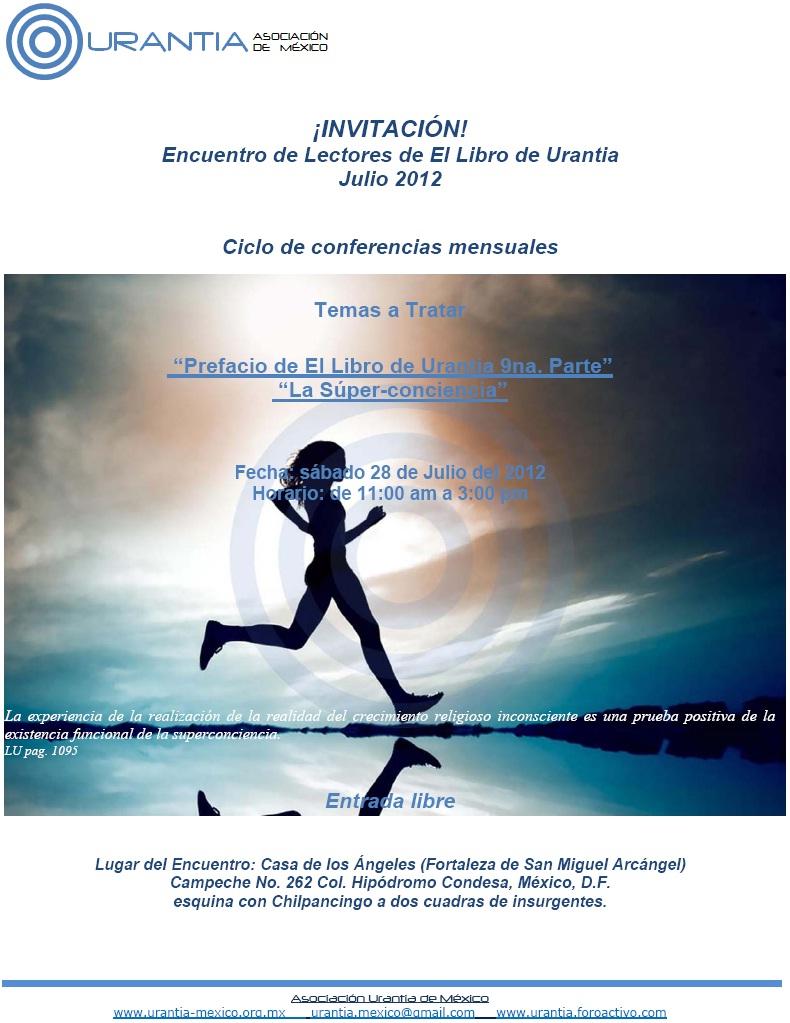 Ciclo de Conferencias Mensuales sobre el  Libro de Urantia - México DF - Sábado 28 de Julio de 2012 Encuen12
