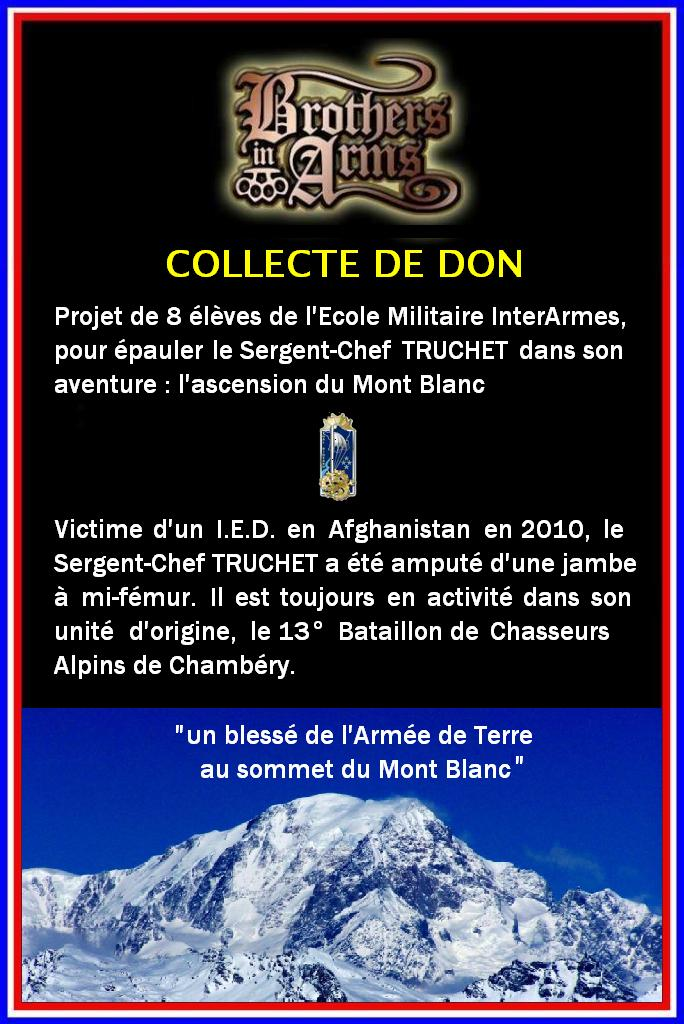 COLLECTE DE DON: un blessé de l'Armée de Terre au sommet du Mont Blanc Affich11