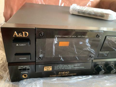 A&D (Akai) GX-Z6100 3 Head Double Capstan Cassette Deck Player (Used) 3ed74710