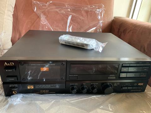 A&D (Akai) GX-Z6100 3 Head Double Capstan Cassette Deck Player (Used) 82940f10