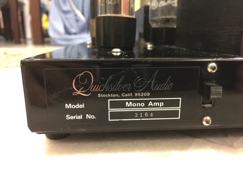 Quicksilver 8417 tube mono power amplifiers (Used) sold B683a610