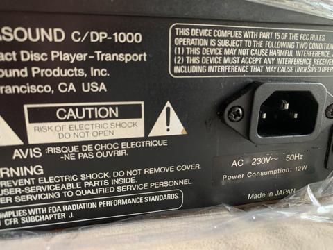 Parasound C/DP 1000 CD player (Used) C4a6da10