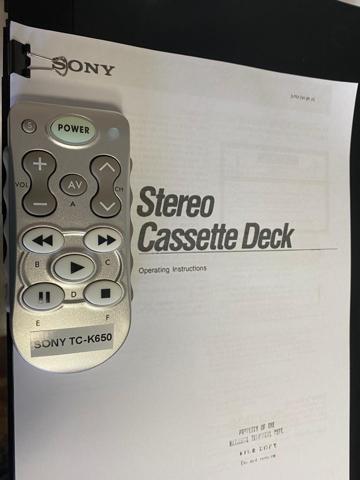 Sony TC-K650ES 3 head cassette deck (Used) sold C5e53b10