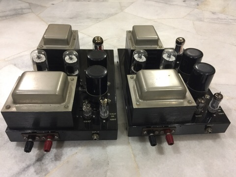Quicksilver 8417 tube mono power amplifiers (Used) sold C7b15c10