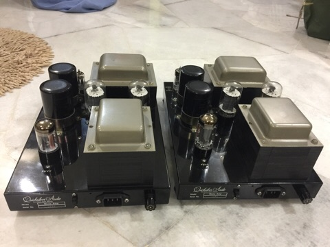 Quicksilver 8417 tube mono power amplifiers (Used) sold De23bf10