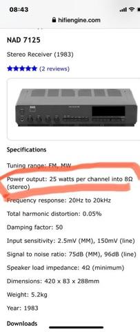 NAD 7125 stereo receiver amp (NOS) E79ec910