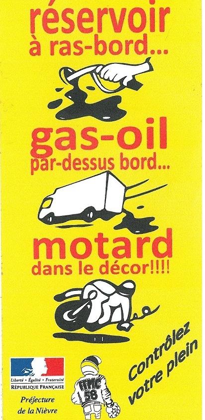 Gas-Oil dans les rond-points,  le reste sur la route.....  Action10