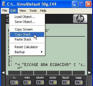 Tutorial: Mostrar en el foro el código de un programa User RPL desde el emulador. Dibujo30