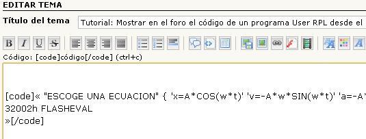Tutorial: Mostrar en el foro el código de un programa User RPL desde el emulador. Dibujo34