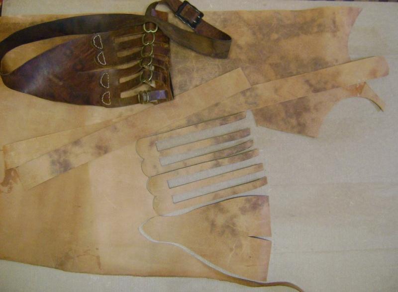 Confectionner un baudrier de rapière XVII°. Dsc05423