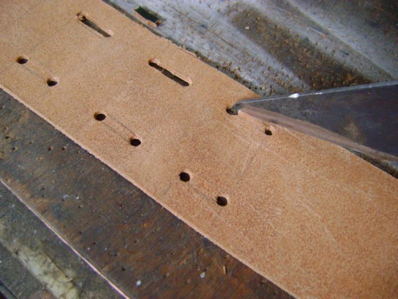 Confectionner un baudrier de rapière XVII°. Dsc05512