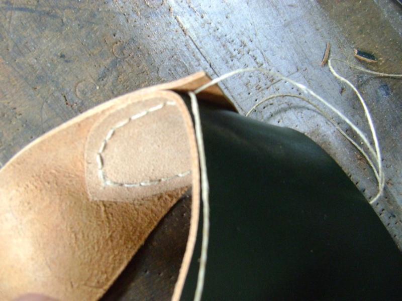Confectionner un baudrier de rapière XVII°. Dsc05515