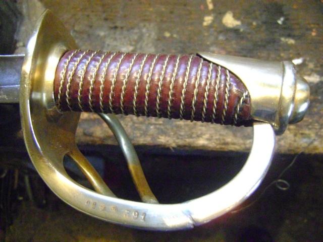 Restauration d'une poignée de sabre 1822. Dsc05738