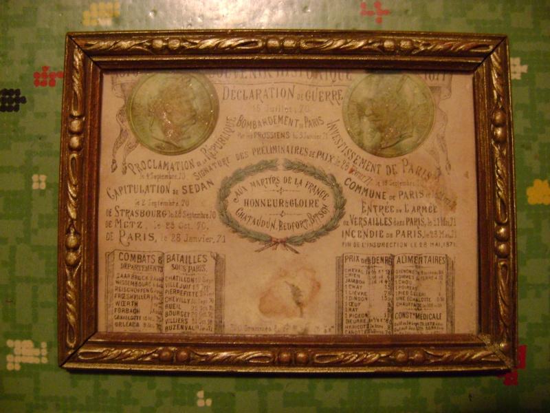 souvenir historique du siège de Paris et médaille campagne Mexique Dsc05843