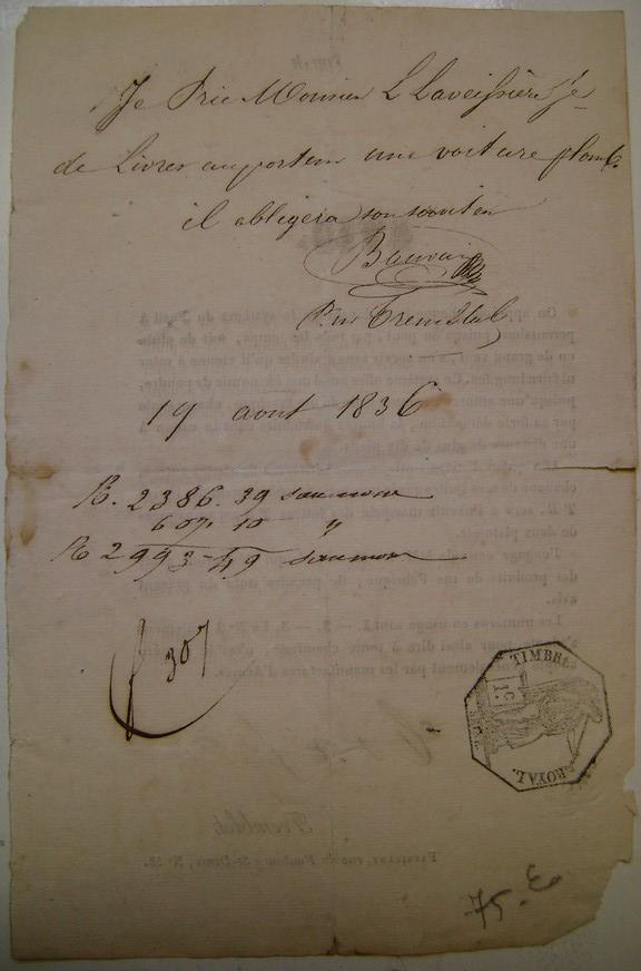 Réclame pour des amorces de fusil en 1836. Dsc06065