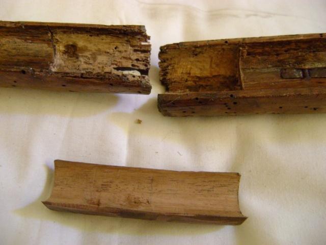 Après le bois attaqué par les vers, le bois ruiné par les vers! Dsc06252