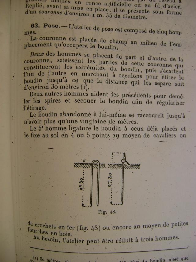 Réseaux Brun, Ribard, Concertina et piquets de fixation. Dsc06277