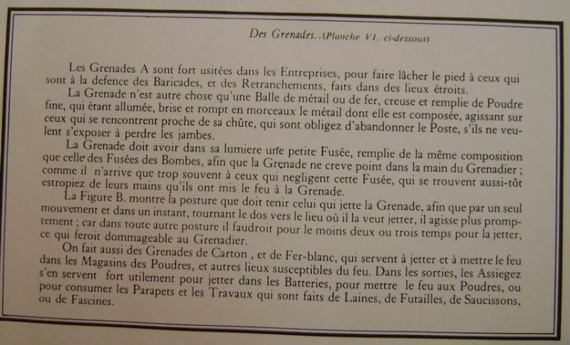 """L'art de """"jetter"""" les grenades aux XVII° et XVIII° siècle. Dsc07357"""