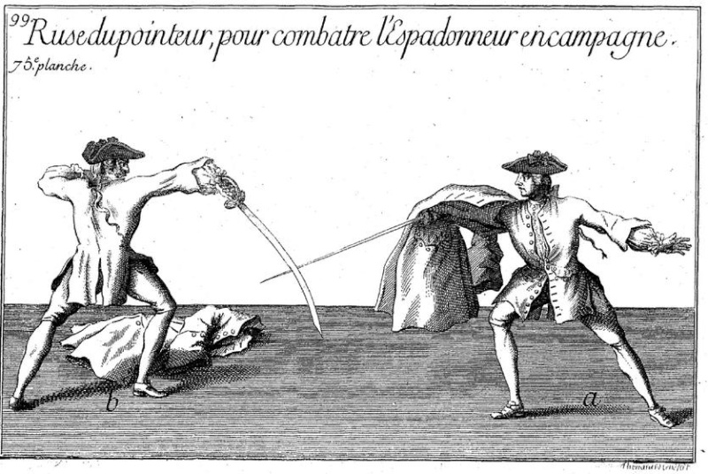Comment se défendre contre des armes pas communes en 1740. Espado10
