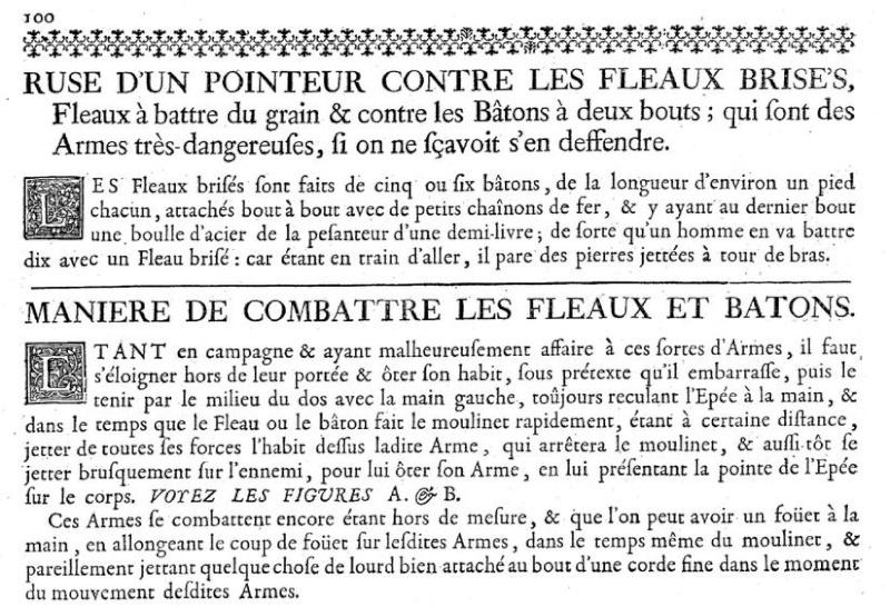 Comment se défendre contre des armes pas communes en 1740. Flaaux10